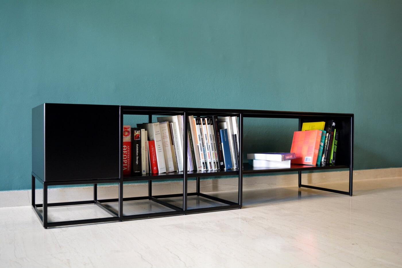 Metallic Minimal Bench Storage Buffet Tv Stand